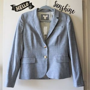 NWT J Crew Gray Classic Wool Blend Office Blazer 6